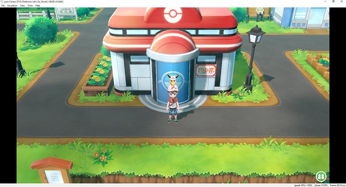 Yuzu canary latest version Pokemon let's go Eevee - Yuzu