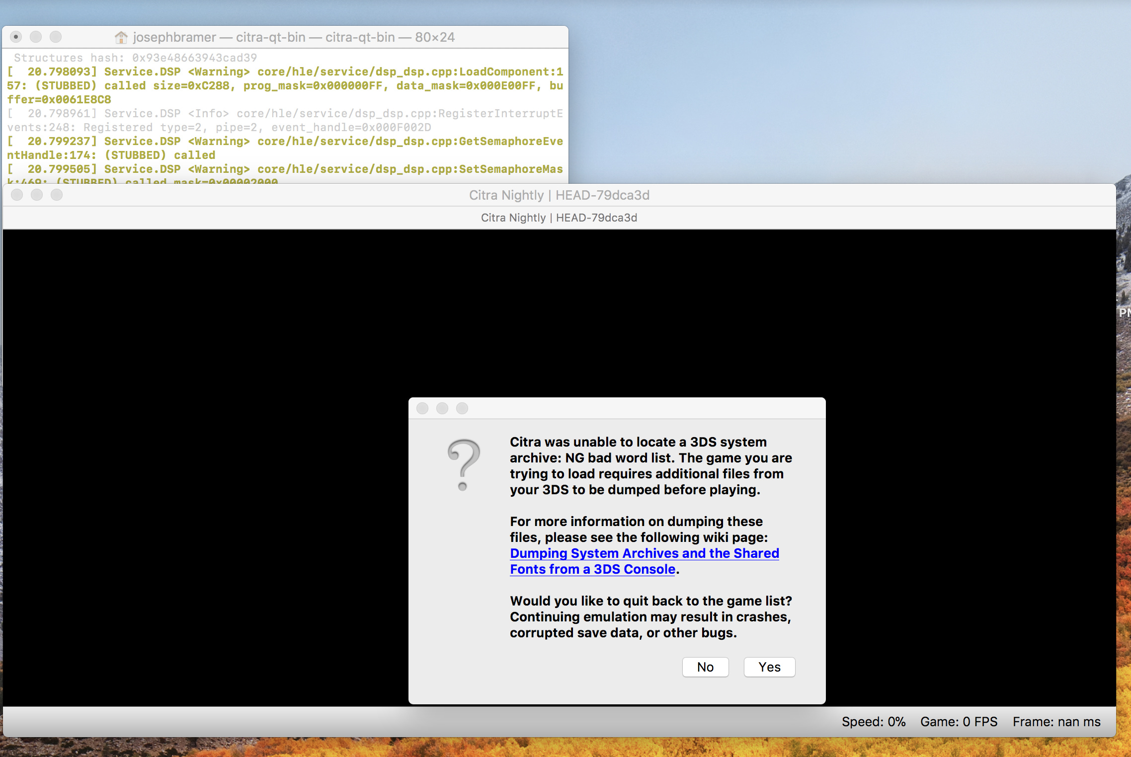 How do I 3ds file dump on my MacBook Pro? - Citra Support