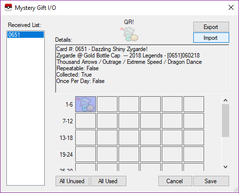 About Pokemon mystery gitst/serial codes in citra - General