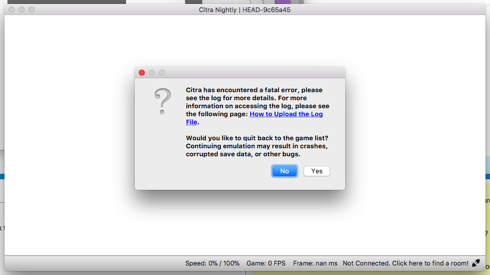 Citra on Mac: Fatal Error - Citra Support - Citra Community