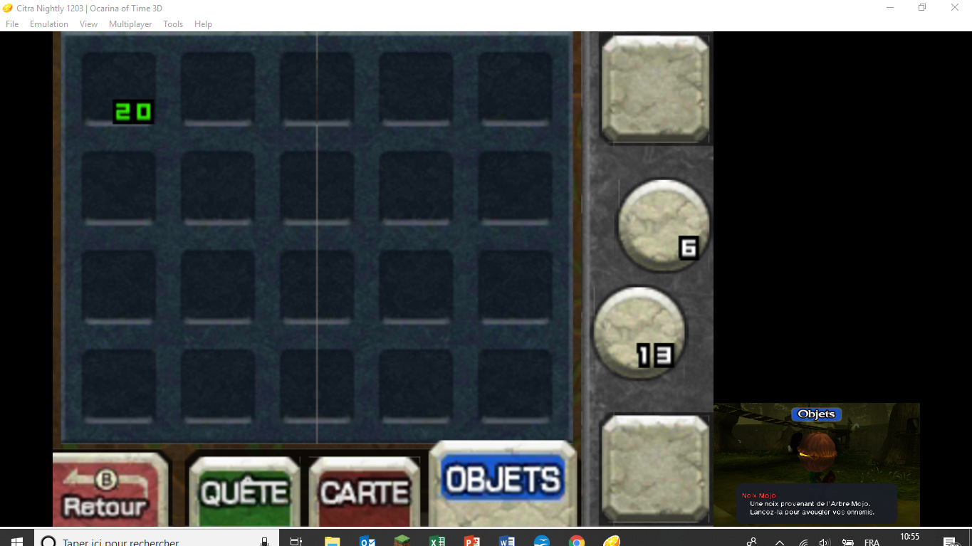 Graphic Bug of items on Ocarina of Time 3D - Citra Support