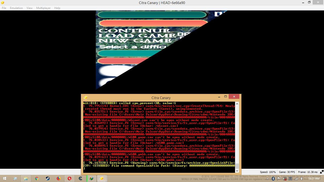 Broken screen with sound - Citra Support - Citra Community