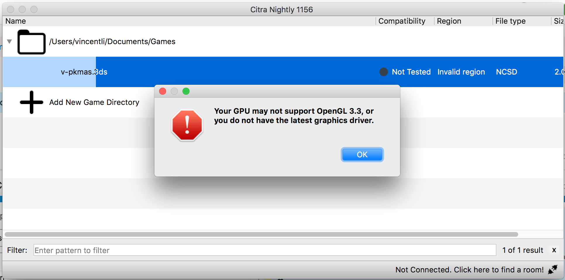 Your GPU may not support OpenGL 3 3, or you do not have the latest