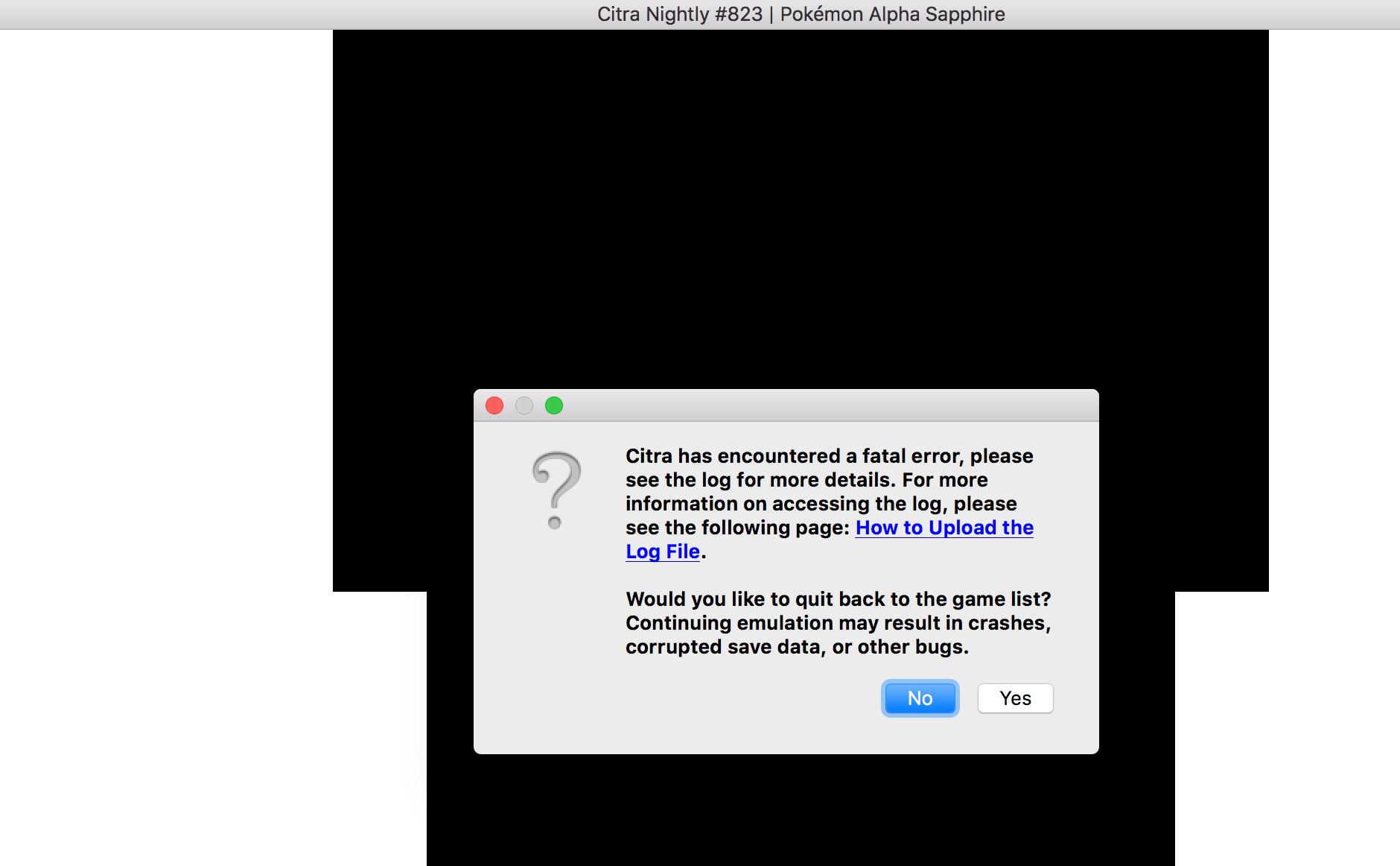 Citra Mac Fatal ERROR help - Citra Support - Citra Community