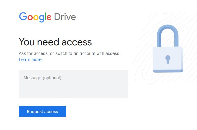 Google Drive Download need access