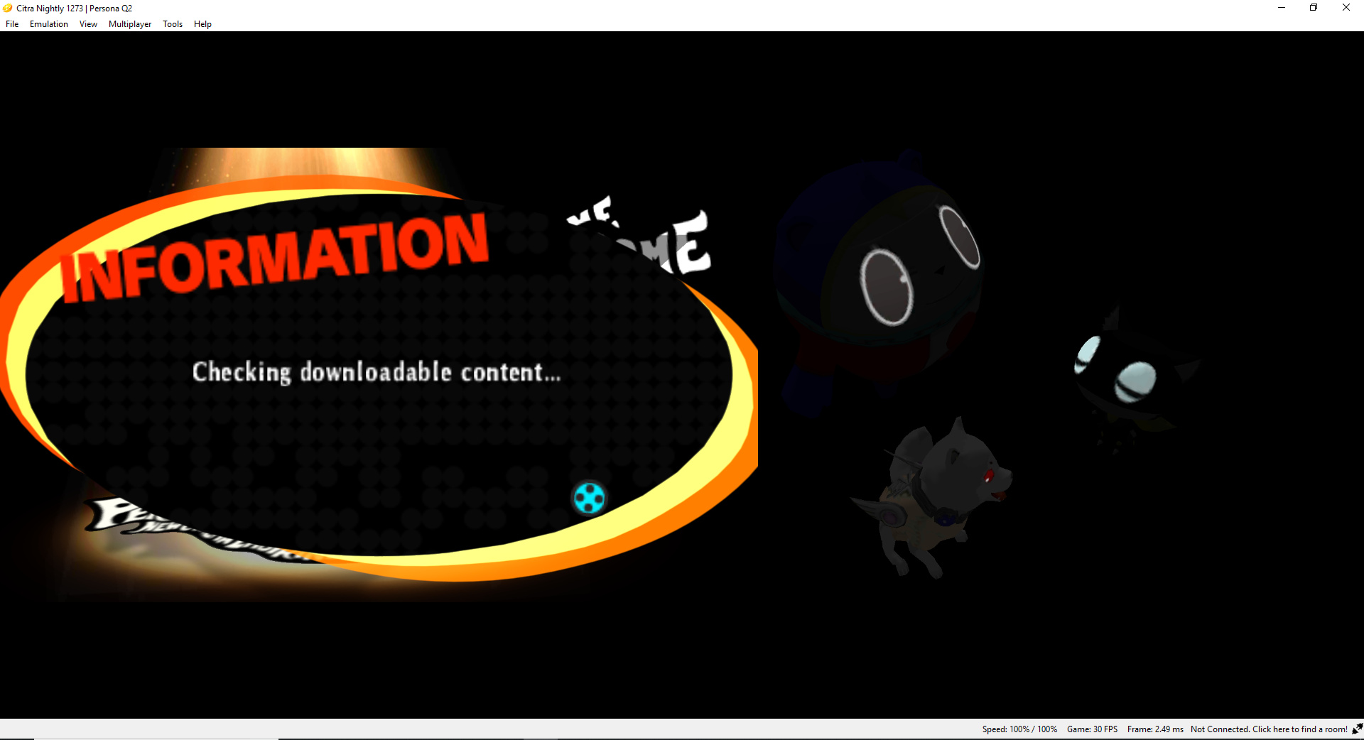 Persona Q2 stuck at Checking downloadable content - Citra Support